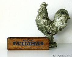 1940's VINTAGE CHEESE BOX - Shabby Chic Home Decor Accent available at www.BehindMyPicketFence.com