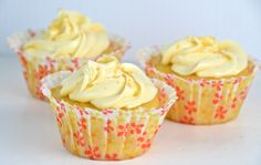Lemon Crème Cupcakes.  The light vanilla marshmallow creme filling gives the cakes a bakery feel, as does the luscious, lemony icing.