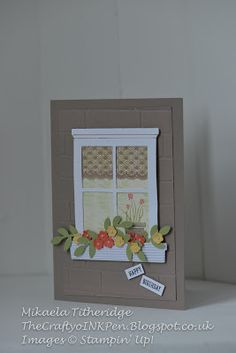 Mikaela Titheridge, Independent Stampin' Up! Demonstrator, The Crafty oINK Pen, Cambridgeshire, UK. Hearth and Home Framelits, Tree Builder and Bird Builder Punch and my favourite Gift from the Garden. Supplies available www.thecraftyoinkpen.stampinup.net