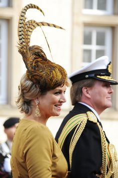 Maxima & Willem-Alexander at the Wedding Of Prince Guillaume Of Luxembourg & Stephanie de Lannoy