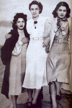 Princess Faiza with the shah sisters