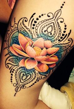 Tatuagem flor de lótus 04