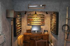 We're always fans of great dungeon rooms for playing your games in. Though we believe some creative lighting could bring this room to the next level, it still deserves a mention. Just the weapons c...