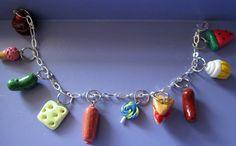 Very Hungry Caterpillar Food Charm Bracelet by thegreatvorelli, $16.00