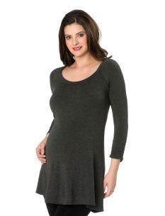 A Pea in the Pod 3/4 Sleeve Scoop Neck Raglan Sleeve Maternity Tunic