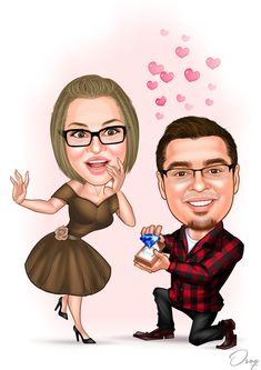 Wedding Portrait Engagement Images, Birthday Cartoon, Caricature Artist, Cartoon Logo, Couple Illustration, Vector Portrait, 1080p Wallpaper, Photo Online, Haikyuu Anime