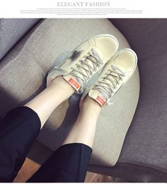 9bc02ca23da0 Golf Korean White Shoe Old Small Dirty Women Shoes Flat Skate Lace Up Shoes  Stars All