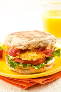 Breakfast BLT Sandwich.....healthy and perfect for breakfast on the go - Marlene Koch -