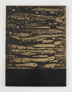 joereorda: TERESITA FERNÁNDEZ Golden (Black Skies 2), 2015 gold chroming and India ink on wood panel 48 x 36 x 2 inches 121.9 x 91.4 x 5.1 cm