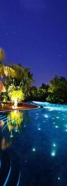Pool at the Beach House Iruveli.... Maldives