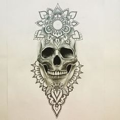 Mandala skull tattoo design