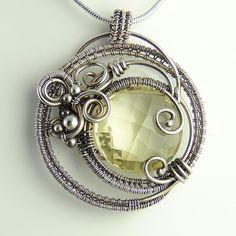 Lemon Quartz Dreamcatcher Necklace by Samantha_Braund, via Flickr