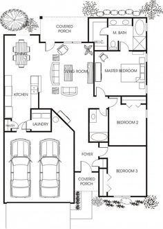 Minimalist Small House Floor Plans for Apartment: Beautiful Small House Floor Plans Young Family House Two Cars Garage ~ novavn.com Apartment Inspiration