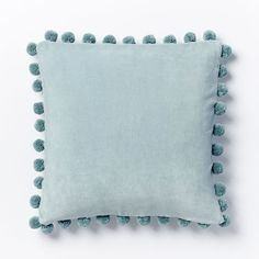 Jay Street Ashti Pom Pom Pillow Cover - Pale Harbor