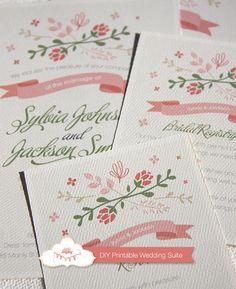 Wedding Invitation Suite Custom Printable