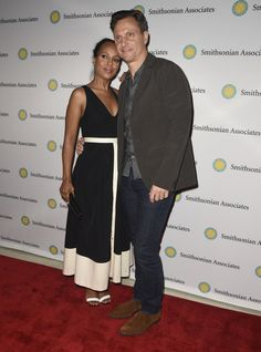 """Tony Goldwyn Photos - Actress Kerry Washington and Tony Goldwyn pose on the red carpet during the """"Scandal-ous!"""" event hosted by the Smithsonian Associates with Shonda Rhimes and the cast of ABC's Scandals at the University of District of Columbia Theater of the Arts on April 28, 2016 in Washington, DC. - Smithsonian Associates Hosts 'Scandal-ous!' an Evening With Shonda Rhimes And The Cast Of ABC's """"Scandal"""""""