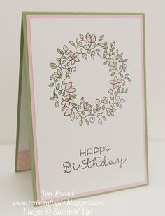 Stampin' Up! - Simple. Sweet. Circle of Spring .... Teri Pocock - http://teriscraftspot.blogspot.co.uk/2015/07/simple-sweet-circle-of-spring.html