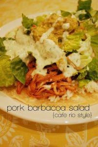 Pork Barbacoa Salad cafe rio style