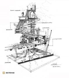 Reconstruction - Forming the architecture space (Study Project). Revit Architecture, Architecture Drawings, Architecture Portfolio, Classical Architecture, Architectural Section, Architectural Sketches, Architectural Photography, Architecture Presentation Board, Presentation Layout