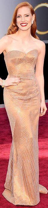 Jessica Chastain in Armani Prive dress