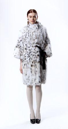 Giuliana Teso Lynx Bellies Fur Coat