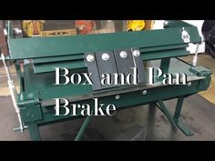I've always wanted a box brake. This was a cheaper and more fun solution than buying one. It's a standard design, wide and can bend up to 20 ga steel. Sheet Metal Brake, Sheet Metal Tools, Homemade Tools, Diy Tools, Metal Projects, Projects To Try, Metal Bender, Welding Cart, Press Brake