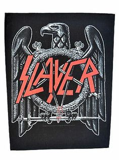 Slayer Back Patch Punk http://www.ebay.co.uk/itm/Slayer-Back-Patch-Punk-emo-rock-heavy-metal-leather-denim-jacket-reign-blood-/281215415169?pt=UK_Women_s_Vintage_Clothing&hash=item4179beb381