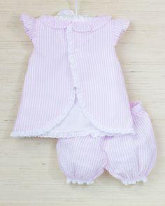 2059420c6b0 Bow Embroidered Seersucker Bloomer Set. Bow Embroidered Seersucker Bloomer  Set Smockingbird. Michelle Knapp · Baby patterns