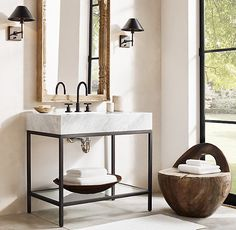 Hudson Metal Single Washstand