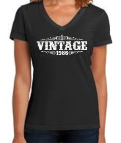30 Years Old WOMENS VINTAGE 1986 TEE 30th Birthday For Her Shirt