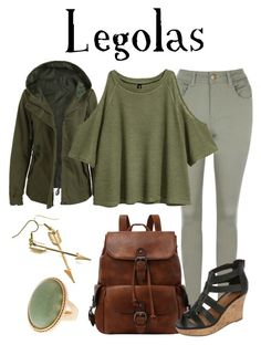 """""""Legolas / The Lord of the Rings"""" by waywardfandoms ❤ liked on Polyvore featuring A.N.A, casual, fandom, lordoftherings and tolkien"""