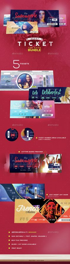 Devil Red - Event ticket Template PSD Buy and Download   - event ticket template free download