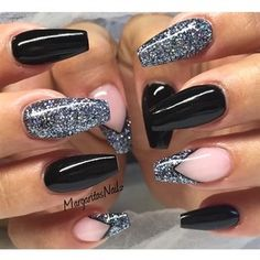 Black Coffin Nails Nail Art Gallery