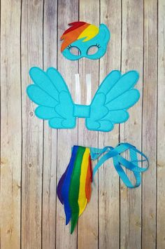 Hey, I found this really awesome Etsy listing at https://www.etsy.com/listing/473263697/rainbow-pony-pretend-play-maskwings-and