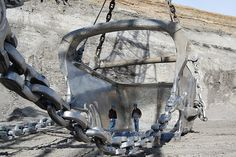 Two men in world's largest dragline bucket by americaspower, via Flickr
