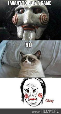 Grumpy Cat VS Jigsaw // www.filmixer.pl