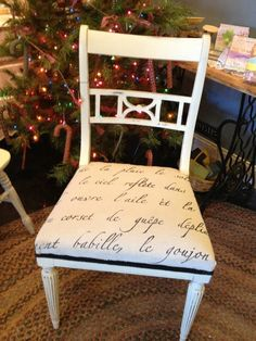 Old White Chalk Paint by Annie Sloan Chair After Photo
