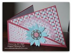 Funky Folded Twisted Card - More Amore