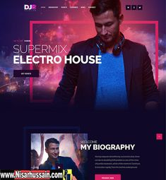DJ Rainflow   Music Band & Musician WP Premium Theme