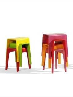 Stackable wooden stool BIMBO by Blå Station