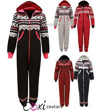 NEW LADIES AZTEC PRINTED ONE PIECE HOODY WOMENS ALL IN ONE ZIP HOODIE JUMPSUIT in Clothes, Shoes & Accessories, Women's Clothing, Jumpsuits & Playsuits | eBay