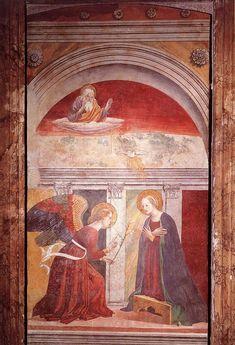 Annunciazione (seconda metà del XV sec) affresco - attribuito a Melozzo da Forli - Pantheon, Roma