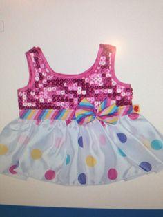 Build A Bear Polka Dot Sequin Dress
