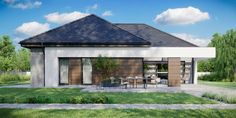 DOM.PL™ - Projekt domu CPT HomeKONCEPT-31 CE - DOM CP1-34 - gotowy koszt budowy Villa Design, Modern House Design, Home Building Design, Building A House, Bungalow Style House, House Construction Plan, Clinic Design, Facade House, Types Of Houses