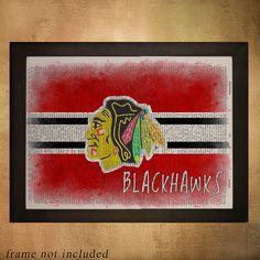 Chicago Blackhawks Hockey Dictionary Art Print by Lexiconograph