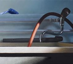 Washroom, 2014, 40 × 120 cm, oil on canvas on Behance