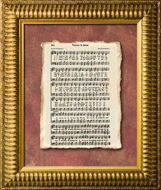 Victory In Jesus Old Hymn Framed Art