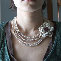 I've tried to write down a pattern for this necklace.