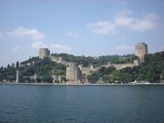 The Rumelihisari is a huge fortress built by Sultan Mehmed II in 1451 to control shipping on the Bosphorus  prior to his conquest of Constantinople in 1453.