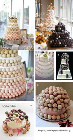 τουρτες με cake pops -cake pops cakes!